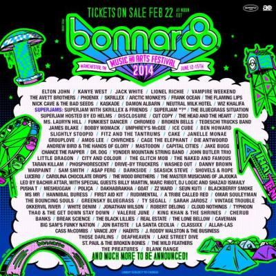Bonnaroo 2014 lineup